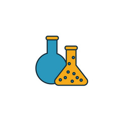 Chemistry icon simple element from school icons vector