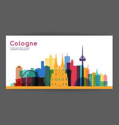cologne colorful architecture vector image