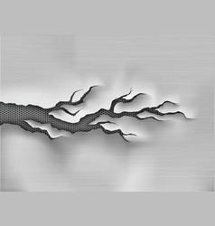 Crack in metal cracked steel shade vector