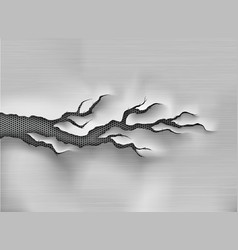 crack in the metal cracked steel shade vector image