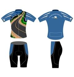 Cycling shirt design vector