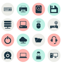 Device icons set collection of printing machine vector
