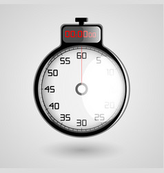 digital 3d stopwatch vector image vector image