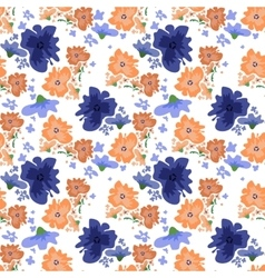 Ditsy pattern with flowers vector image