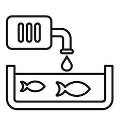 Domestic fish farm icon outline style vector