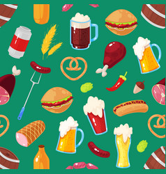 elements of beer festival vector image