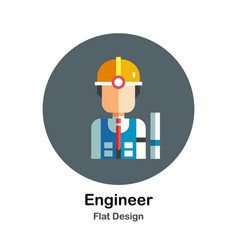 Engineer flat icon vector