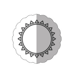 Figure beautiful sun abstract icon vector