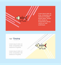 fish skull abstract corporate business banner vector image