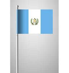 Flag of Guatemala National Flag on Flagpole vector image