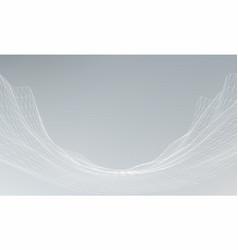 futuristic hud ui grid music sound waves set vector image