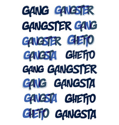 Gang gangster typing big set music theme logo vector