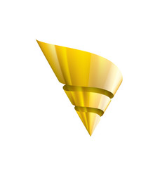 Golden ribbon on white background vector