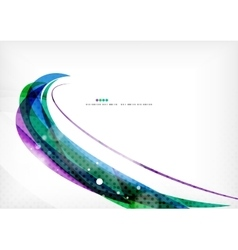Green blue purple line background vector