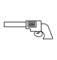 gun sherif wild west icon vector image