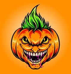 halloween joker pumpkins vector image