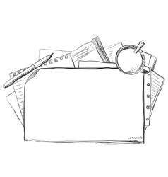 Hand drawn business frame vector image