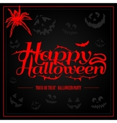Happy Halloween creepy letters for greeting card vector
