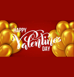 happy valentines day card template poster with vector image