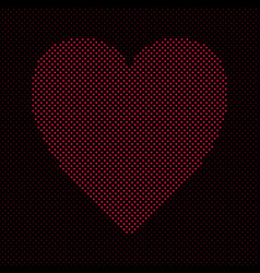 heart shaped love concept background design vector image