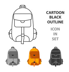 hiking bag icon of for web and vector image