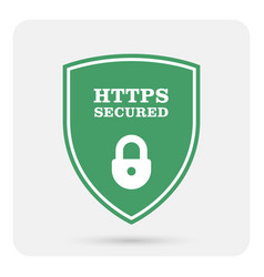 Https secure website - ssl certificate shield vector