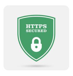 https secure website - ssl certificate shield vector image