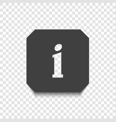 information icon on a transparent background vector image