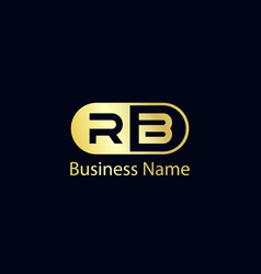 Initial letter rb logo template design vector