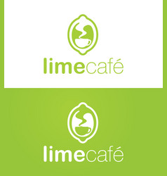 Lime cafe logo vector