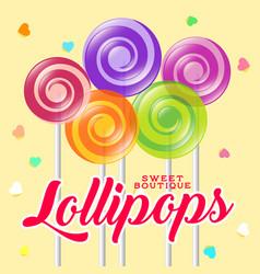 lollipop boutique poster sweets shop vector image