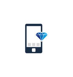 Mobile diamond logo icon design vector