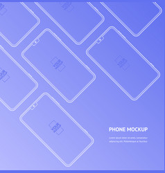 mobile phones mockups front view display template vector image