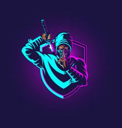 Ninja esport insignia vector