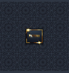 Oriental patterns black background with arabic vector