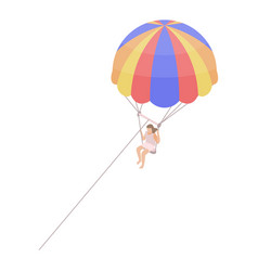 parasailing icon isometric style vector image