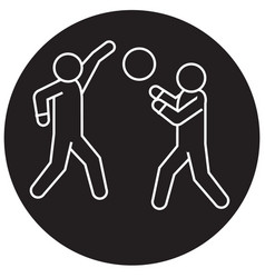 playing basketball black concept icon vector image