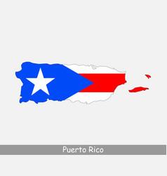 puerto rico map flag vector image