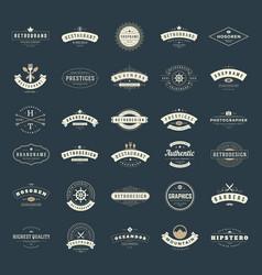Retro Vintage Logotypes or insignias set vector