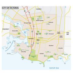 road map capital city victoria canada vector image