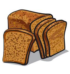 rye bread vector image