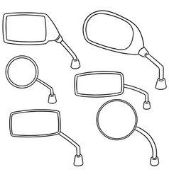 set of rear view mirror vector image
