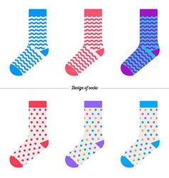 Set socks with original design vector