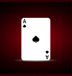 Spade ace on dark background vector