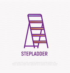 stepladder thin line icon vector image