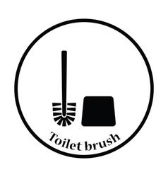 Toilet brush icon vector image