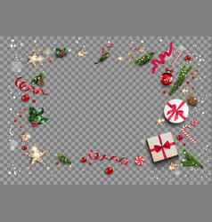 transparent holiday background vector image