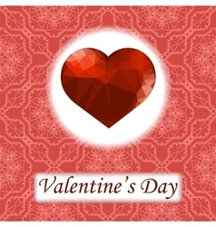 Valentines Day Romantic Greeting Card vector image