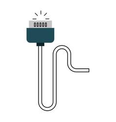 Video game control plug vector