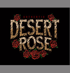 Vintage desert rose lettering vector